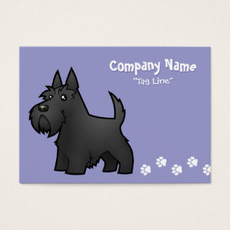 Cartoon Scottish Terrier Business Card