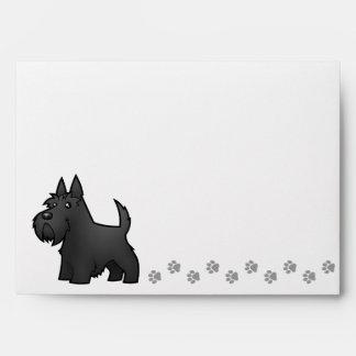 Cartoon Scottish Terrier Envelope