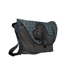 Cartoon Scottish Terrier Messenger Bag at Zazzle