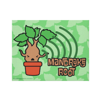 Cartoon Screaming Mandrake Character Art Canvas Print