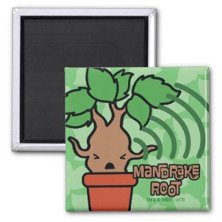 Cartoon Screaming Mandrake Character Art Magnet
