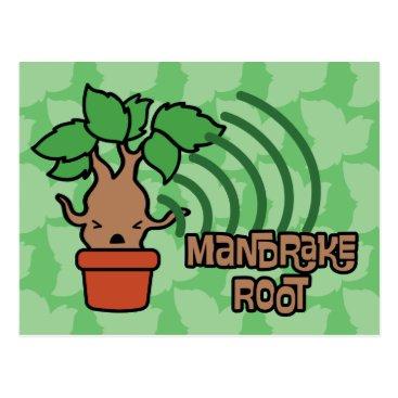harrypotter Cartoon Screaming Mandrake Character Art Postcard