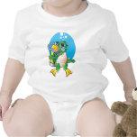 Cartoon Scuba Turtle Baby Bodysuits