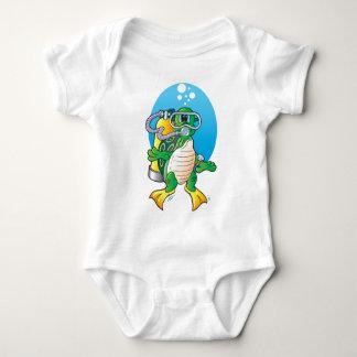 Cartoon Scuba Turtle T Shirt