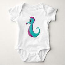 Cartoon Sea-horse Baby Bodysuit