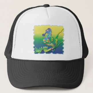 Cartoon Sea horse Trucker Hat