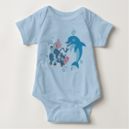 Cartoon  Seacow and Dolphin baby apparel T Shirts