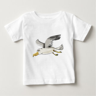 cartoon seagull flying over head baby T-Shirt