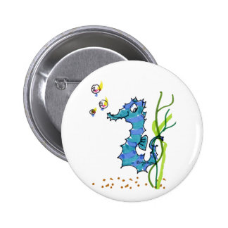 Cartoon Seahorse Cute Buttons
