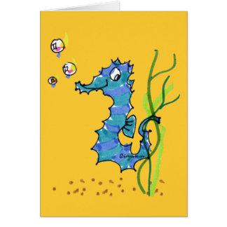 Cartoon Seahorse Cute Card