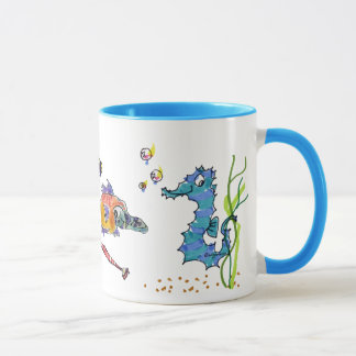 Cartoon Seahorse Cute Mug
