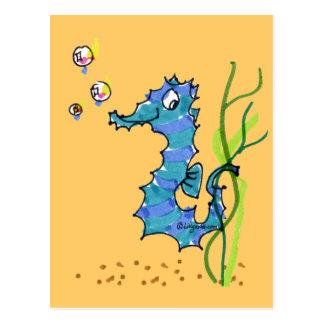 Cartoon Seahorse Cute Postcard
