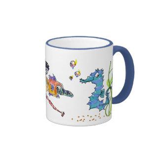 Cartoon Seahorse Cute Ringer Mug