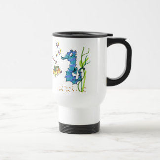 Cartoon Seahorse Cute Travel Mug