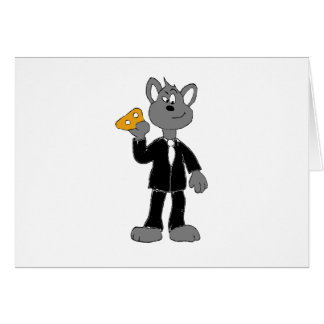 Cartoon Secret Agent Mouse Card