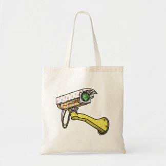 Cartoon Security Camera Tote Bag