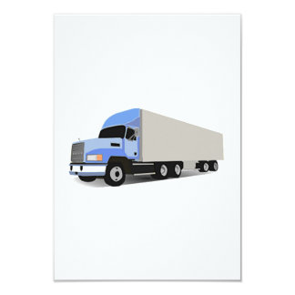 Cartoon Semi Truck Invitation