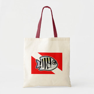 Cartoon Sergeant Major Dive Flag Tote Bag