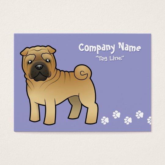 Cartoon Shar Pei Business Card