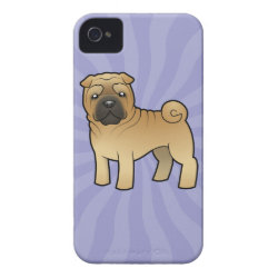 Cartoon Shar Pei iPhone 4 Case-Mate Case