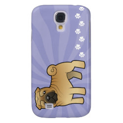 Cartoon Shar Pei Samsung Galaxy S4 Case