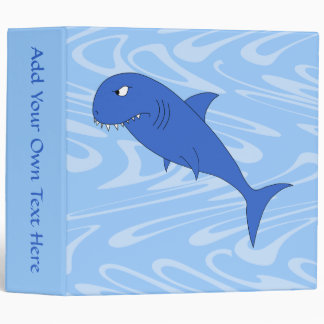 Cartoon Shark. 3 Ring Binder