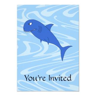 Cartoon Shark. Card