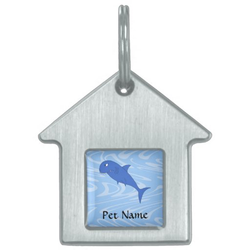 Cartoon Shark. Pet Name Tag