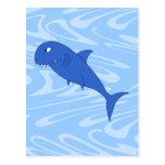Cartoon Shark. Post Cards