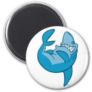 Cartoon Shark rolling back laughing Magnet