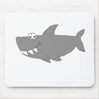 Cartoon Shark Swimming Mouse Pad