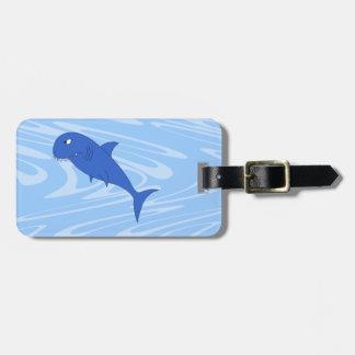 Cartoon Shark. Tag For Luggage