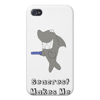 Cartoon Shark With Big Smile Case For iPhone 4