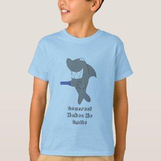 Cartoon Shark With Big Smile T-Shirt