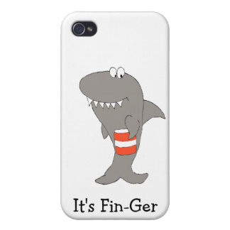 Cartoon Shark With Bucket Of Fried Chicken iPhone 4/4S Case