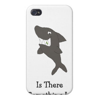 Cartoon Shark With Food In Teeth Cover For iPhone 4
