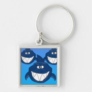 Cartoon sharks keychain