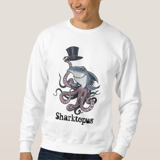 Cartoon Sharktopus Sweatshirt