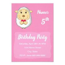 Cartoon sheep Birthday Invitation