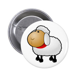 Cartoon Sheep Pinback Button