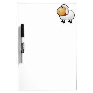 Cartoon Sheep Dry-Erase Whiteboards