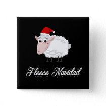 Cartoon Sheep Fleece Navidad Button