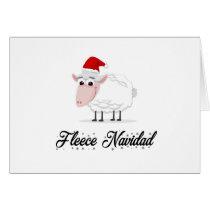 Cartoon Sheep Fleece Navidad Card