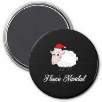 Cartoon Sheep Fleece Navidad Magnet