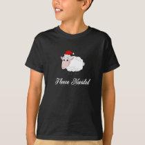 Cartoon Sheep Fleece Navidad T-Shirt