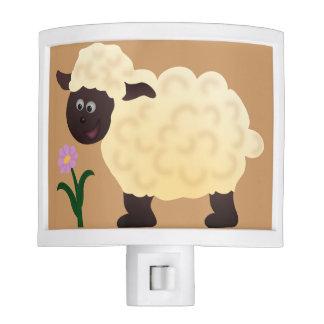 Cartoon Sheep & Flower Nightlight