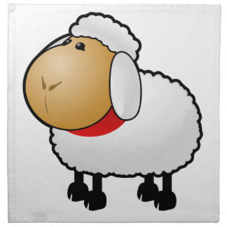 Cartoon Sheep Printed Napkins