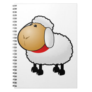Cartoon Sheep Spiral Note Book