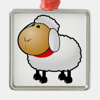 Cartoon Sheep Christmas Ornaments