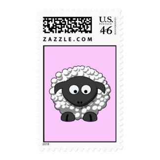 Cartoon Sheep Postage